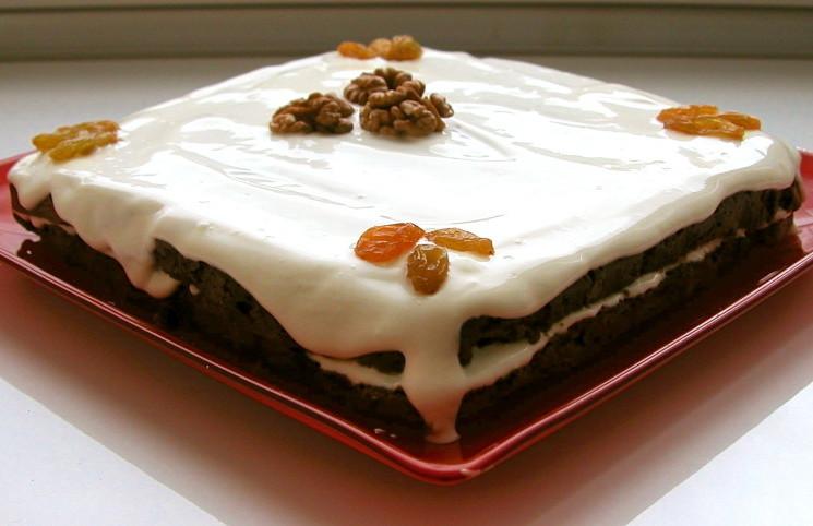 Рецепт Торт из изюма и орехов