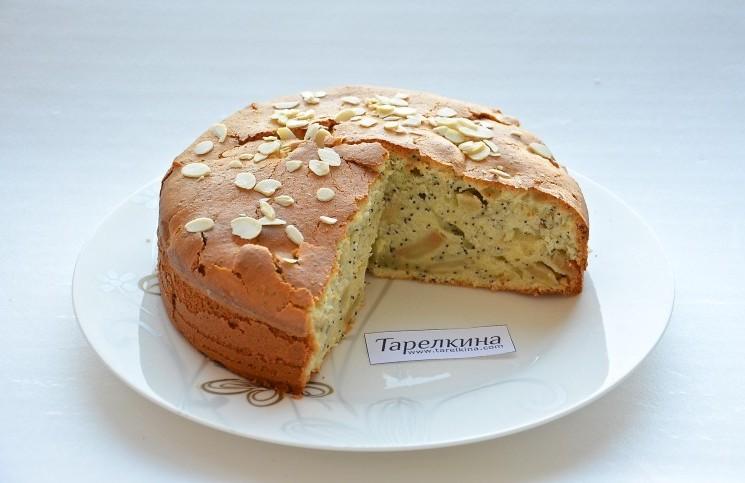 Рецепт Яблочный пирог с маком