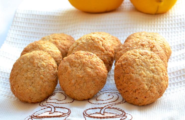 Рецепт Овсяное печенье с лимоном и медом