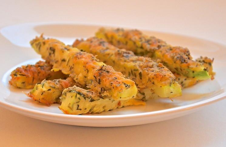 Рецепт Кабачки в сырной панировке