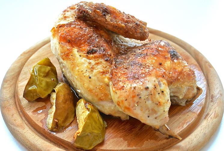 Рецепт Курица с яблоками