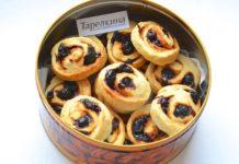 Печенье улитки с вишней