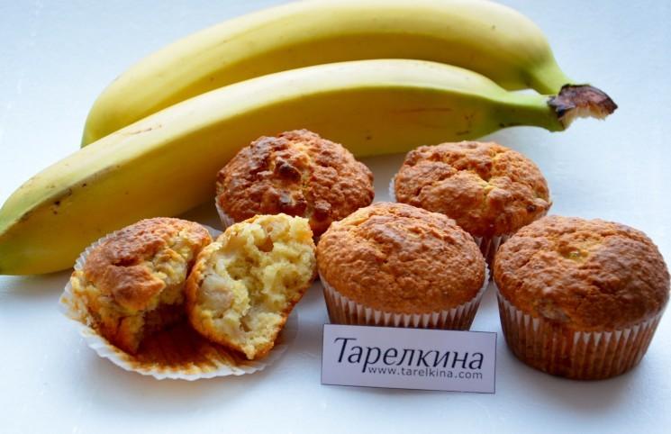 Рецепт Маффины с бананом