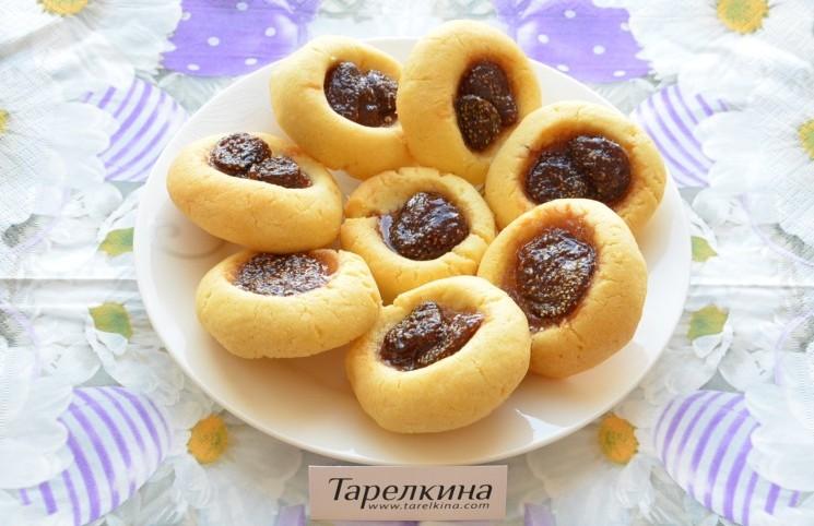 Рецепт Печенье с клубничным вареньем
