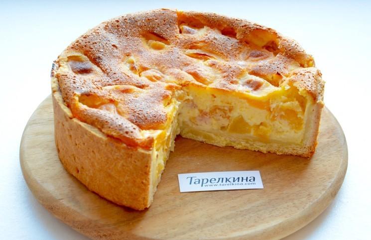 Рецепт Цветаевский пирог с абрикосами