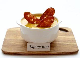Овощной суп-пюре с копченостями