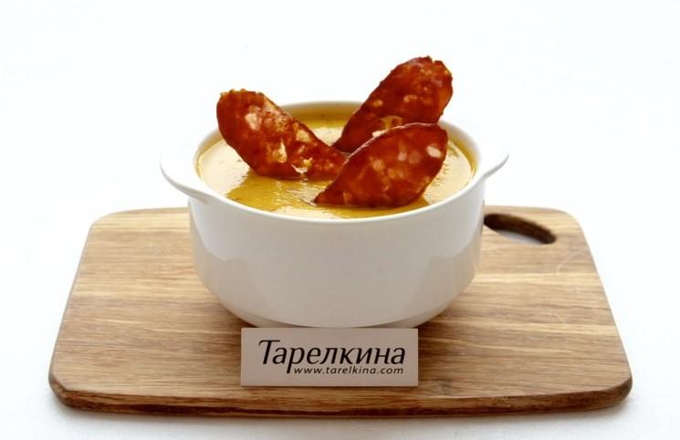 Рецепт Овощной суп-пюре с копченостями
