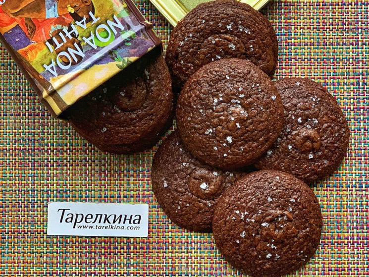 Шоколадное печенье с солью